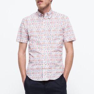 Gitman Bros. vintage tennis racquet shirt, small